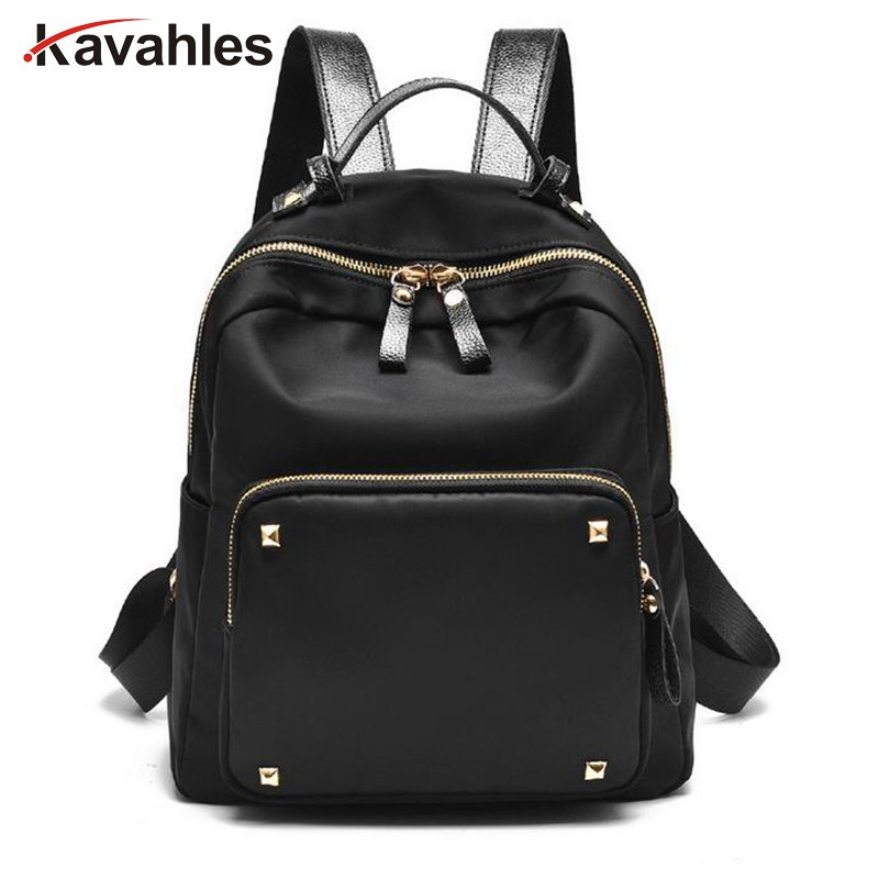 New Women Backpack Fashion Preppy Style Shoulder Bag Laptop Nylon Backpack Schoolbags for Teenager Girls Daypacks