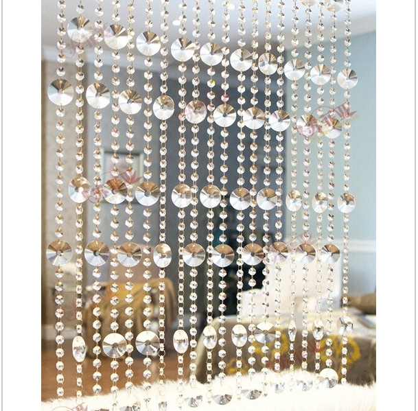 20meters crystal glass beads strands door/window <font><b>curtain</b></font> decorative partition <font><b>curtain</b></font> finished porch window <font><b>curtain</b></font>