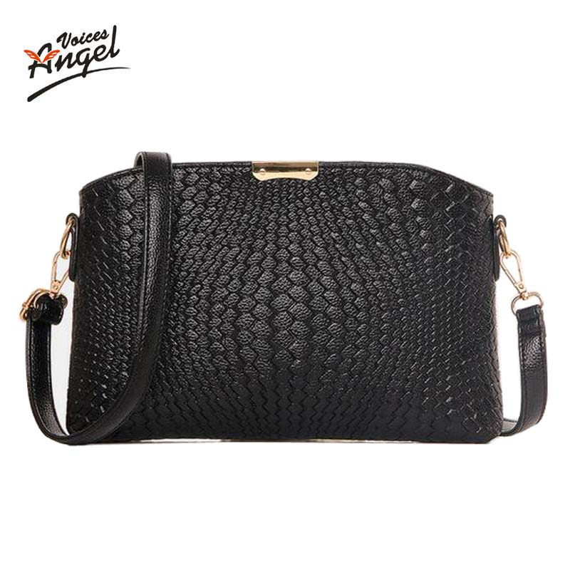 Women Bag 2016 Women Messenger Bags Small Wave Clutch Bags Handbags Women Famous Brands Designer Bolsa Feminina Mochila Black