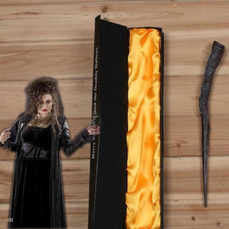 Creavite Magie Bellatrix Lestrange Magic Wand Harry Potter Cosplay Barnleksaker Halloween present med högkvalitets boxpackning