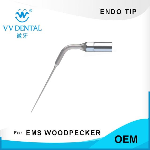 5 piezas E4... endodoncia punta dental scaler endo punta para EMS pájaro carpintero scaler máquina