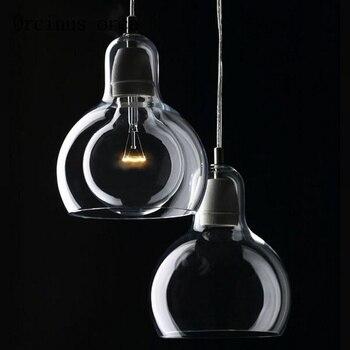 Современный минималистичный стеклянный светильник Эдисона, люстра для ресторана, гостиной, бара, персонализированная оригинальная люстра ...