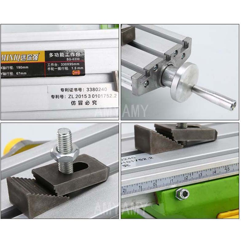 Image 5 - AMYAMY Mini Multifunctional Cross Working slid Table compound table worktable Bench For Drill Milling Machine 6330drill tablemini drill tabletable drill -