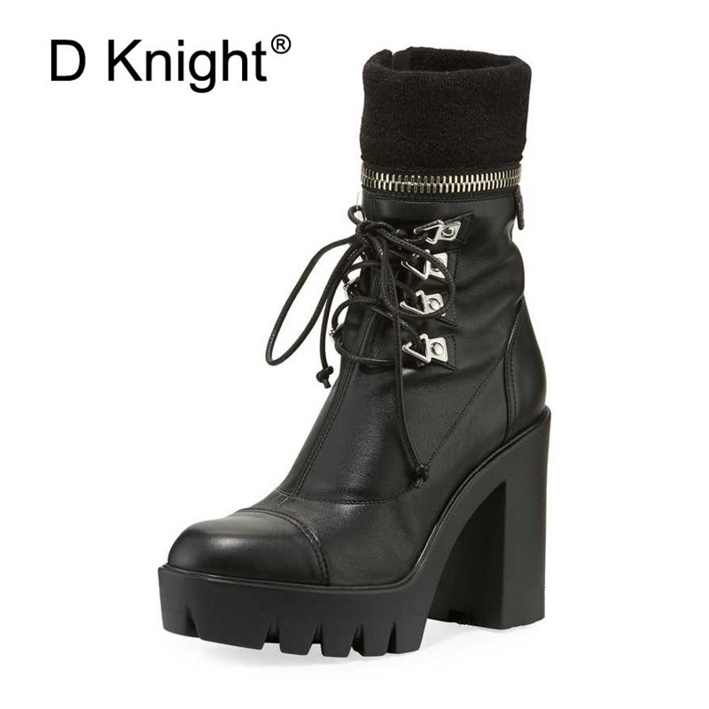 Chic Women Short Boots British Black Platform Ankle Boots Waterproof  Punks Womens Motorcycle Boots Super High Heel Lady ShoesChic Women Short Boots British Black Platform Ankle Boots Waterproof  Punks Womens Motorcycle Boots Super High Heel Lady Shoes