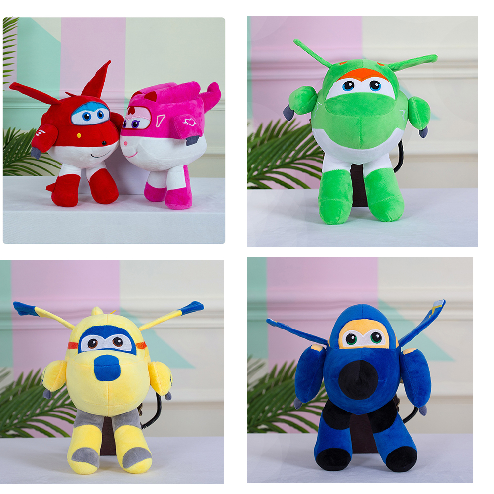 20cm Super Wings Plush NEW 5 Kinds Of Stuffed Super Wings Airplane Collection Gift Kid Toys Transformation For Children