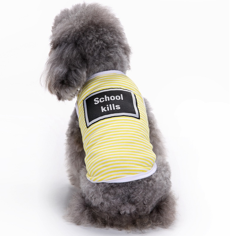 2017 Hot Summer Pet Dog Shirts ropa linda letra de la escuela mata - Productos animales