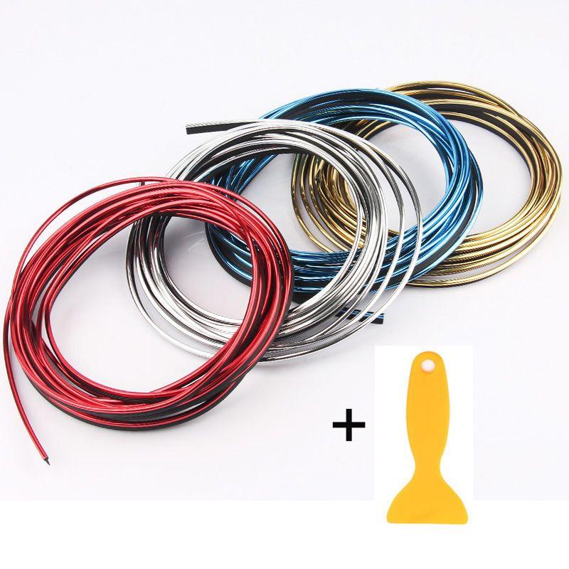 10 м/лот 6 цветов приборной панели автомобиля панель украшения с черным краем точке линии разрыва литье прокладки уравновешивания с помощью