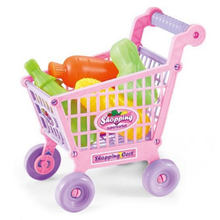 Kids Play House Toy Simulation Shopping Cart Vegetables Fruits Children Cute(China)