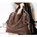 2017 fashion women handbags high quality Korean WEAVING GRID designers shoulder bags for woman PU leather Hot Sale New