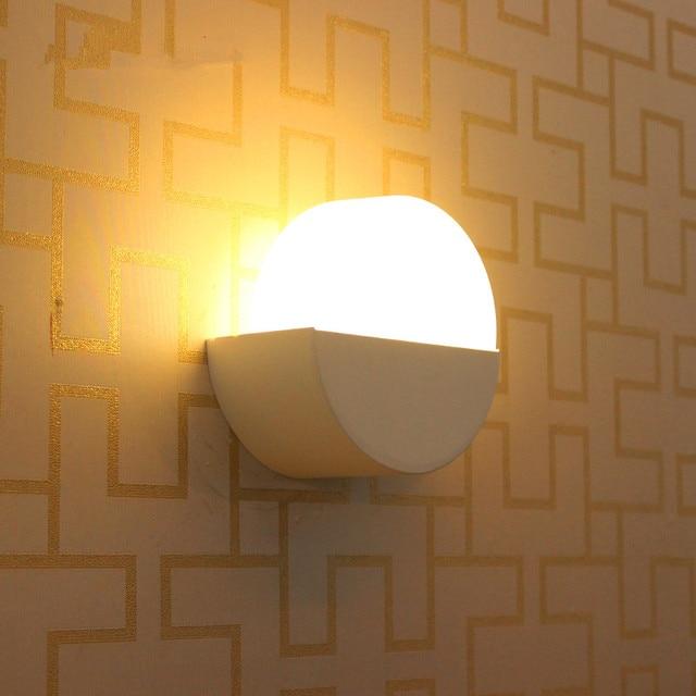 Modern Led Night Lights Cafe Light Moon Gl Wall Lamp Sconce For Study Room Restaurant Salon