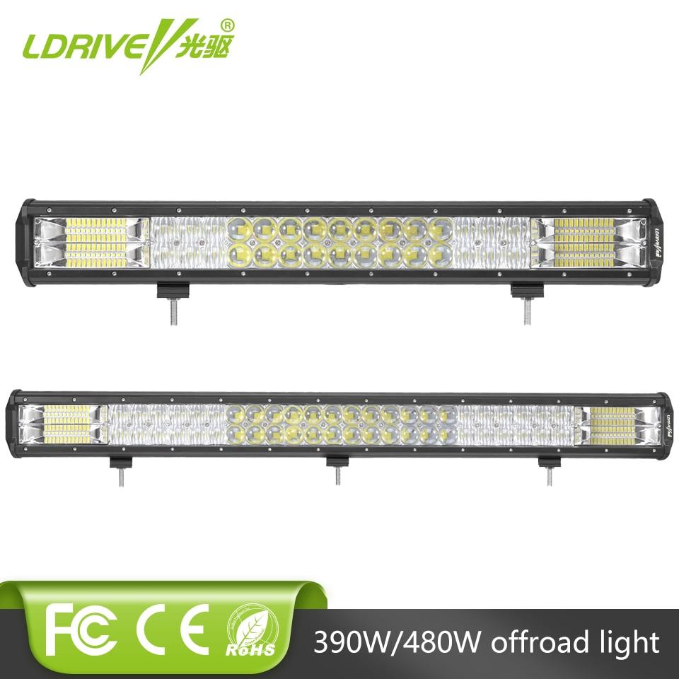 22 Inch LED Work Light Bar 22 Inch 480W Flood Work Light 7D Off Road Lights for 4WD 4x4 SUV ATV UTV Truck Fog Lamp
