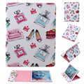 For Apple iPad Mini 4 PU Leather Case High Heels and Perfume Print Tablet Flip Cover with Cute Wallet Card Holder