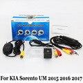 Câmera de Visão Traseira do carro Para KIA Sorento HUM 2015 2016 2017/Fio Ou Sem Fio RCA AUX/HD de Visão Noturna Câmera de Estacionamento Retrovisor