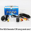 Car Rear View Camera For KIA Sorento UM 2015 2016 2017 / RCA AUX Wire Or Wireless / HD Night Vision Rearview Parking Camera