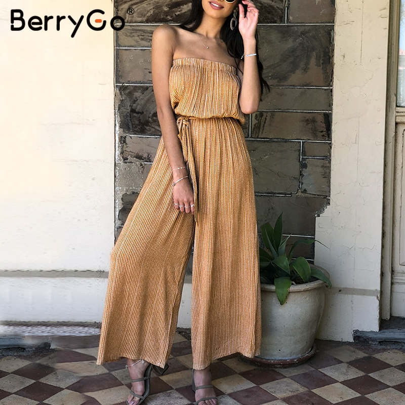 BerryGo Off shoulder sexy jumpsuit women   rompers   elegant Sashes jumpsuit long   romper   Summer leopard print overalls playsuit 2019