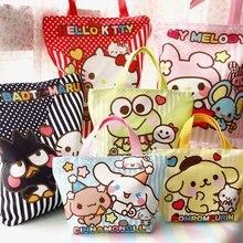 ed4aea462 New Reusable Shopping Bag Shopper Handbag Hello Kitty Tote Bags Melody  Grocery Bags Pudding Dog Canvas