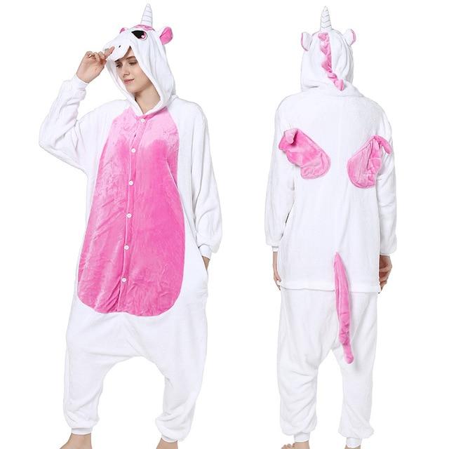 Gratë për burra Kigurumi Anime Pizhama Unicorn Hoodie Pajamas - Kostumet - Foto 5