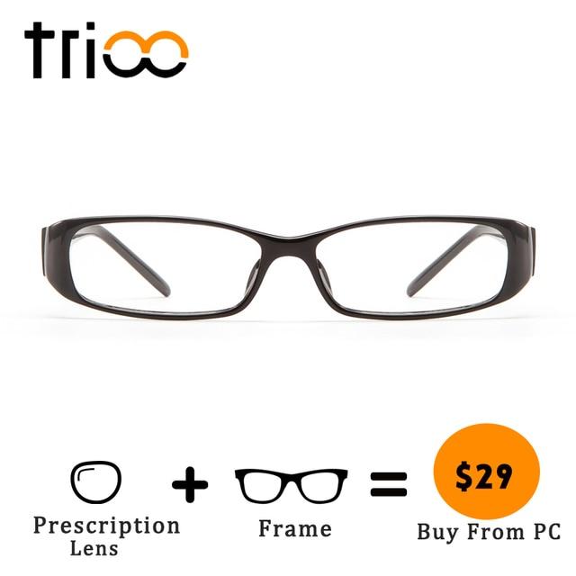 a61ba9f492 TRIOO Black Prescription Eyeglasses Reading Clear Women Minus Glasses Photo  Grey Brown Lens Optical Eyewear Astigmatism