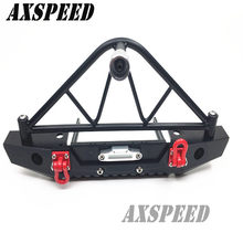 Steel Rear Bumper w/ Winch Mount Shackle for RC Crawler car Axial SCX10 #D-US(China)
