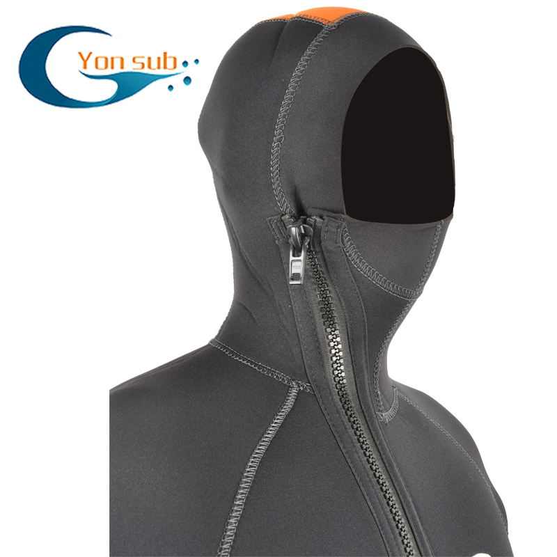 5MM Full Body Men Diving Suit one piece Wetsuit Long Sleeve Warmth Sunblock Wetsuit Headgear Mens Sportswear for Men ...