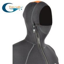 Yonsub 5mm Avant Zipper Semi-sec Plongée Professionnelle Costume Néoprène combinaison de Plongée Surf Costume Pour M Avec Capot