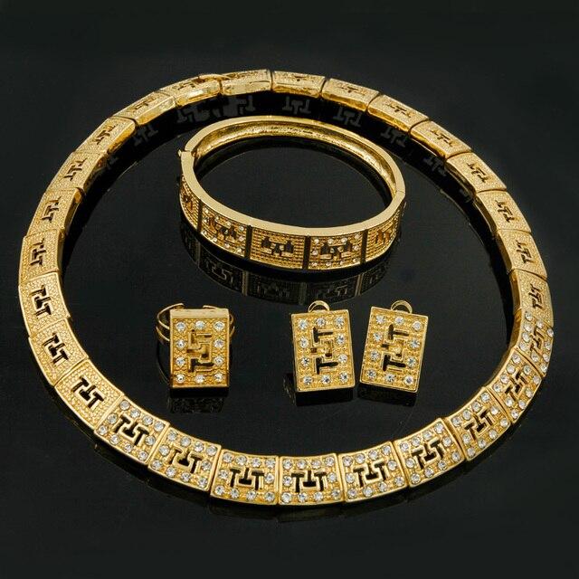 Fashion Turkish Women Gold Jewelry Retro African Bride Wedding