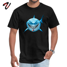 Blue Shark Attack Round Collar Top T-shirts Labor Day Family Tops Shirt Short Naruto Discount Wehrmacht Fabric T Men