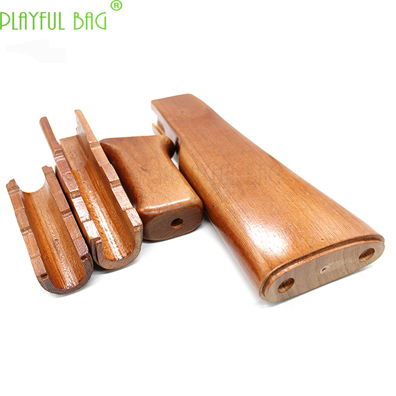 Renxiang Ak47 Special Solid Wood High Quality Beech Backing Protective Wood Four Sets Water Bullet Gun Accessories KJ46