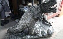 28 «Династия Китайский Природный джаспер Нефрит Реалистичные cabrite Ящерица хамелеон Статуя