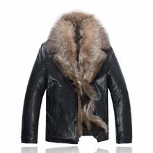 Hot Sale High Quality Fashion Winter Mens Coats Imitation Leather Jacket Mink fur jacket Jackets Men 2016 980