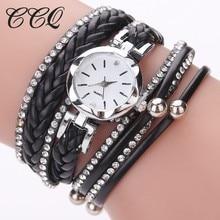 CCQ Brand Fashion Women Dress Handmade Bracelet Watch Luxury