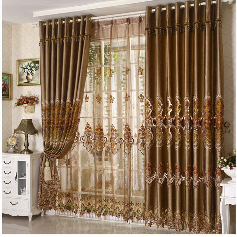 Luxury Fashion Coffee Color Curtain High Quality