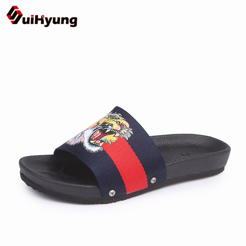 Suihyung Plus Size Women Summer Flat Shoes PU Soft Bottom Platform Slippers Woman Beach Slippers Embroider Flip Flops Sandals fashion summer flat slippers female soft indoor slip resistant outsole flip sandals plus size beach shoes