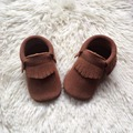 Tan Suede Leather Baby Moccasins Handmade Toddler Shoe