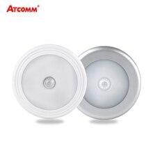 PIR Cảm Biến Chuyển Động LED Ánh Sáng Ban Đêm Dễ Dàng Cài Đặt Không Dây Tủ Âm Tường Tủ Cầu Thang Đèn Pin AAA Hỗ Trợ Chiếu Sáng Khẩn Cấp