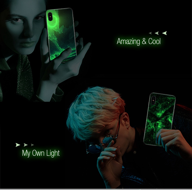 TOMKAS Luminous Starry Luxury Case for iPhone X Xs Max Xr Glass Phone Cover Christmas Silicone Case for iPhone 7 8 6 S 6s Plus (28)