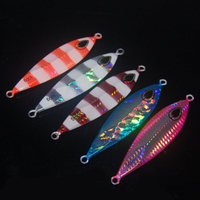 5pcs Metal Jigs Slow Fall 200g 14cm Saltwater Fishing Lure Big game Tackle US Fast Artificial Sea Ice Raft Rock Boat Lure Bait