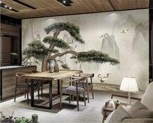 Beibehang Custom photo wallpaper landscape tree Ink landscape hand-painted TV background wall 3d wallpaper mural papel tapiz