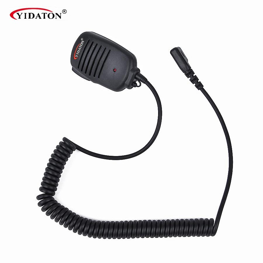 New 2 PIN Handheld PTT Speaker Mic Microphone For IC V8