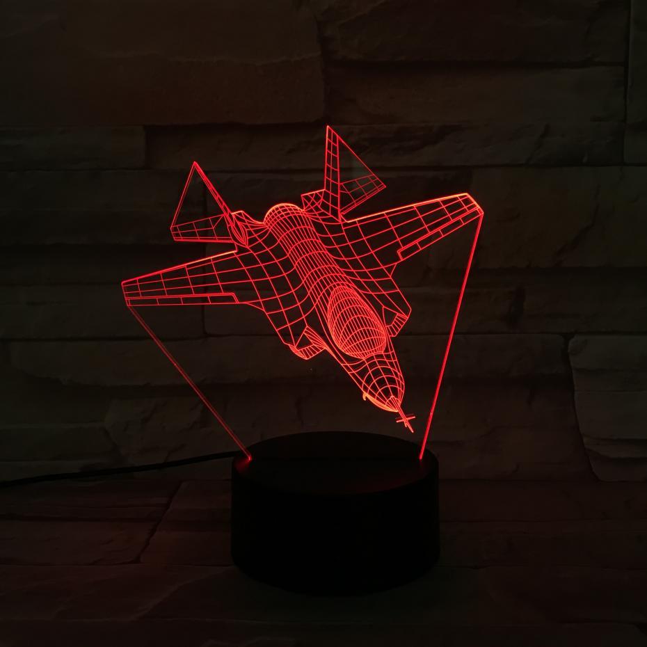 F 35a b c Warcraft Model Usb 3d Led Night Light Illusion Lampara Fighter gece lambas Warplane Plane Table Lamp Bedside in LED Night Lights from Lights Lighting