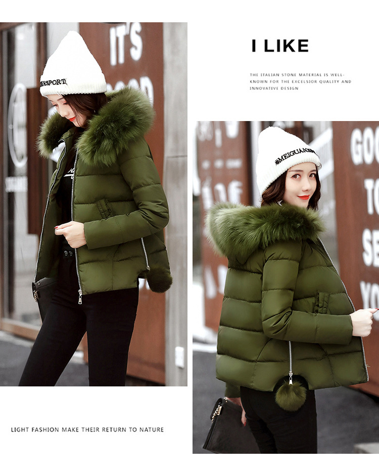 Short Women Basic Jackets Streetwear Warm Casual Coats Female Parka Cotton Hooded Winter Women Jacket Coat Outwear 19 DR114 11
