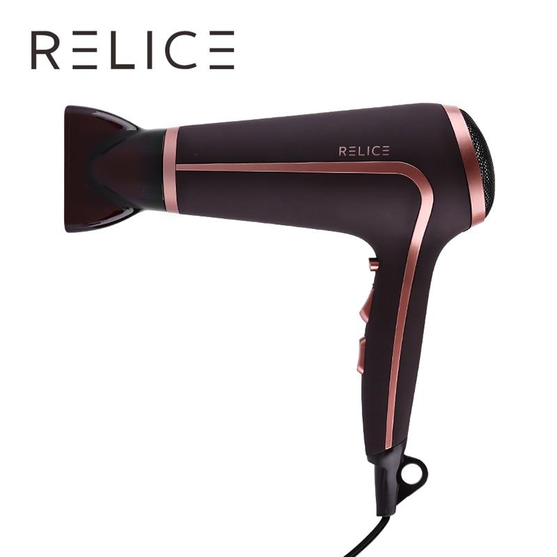 ¡Caliente! RELICE HD-301 aire frío secadores de pelo profesional poderoso secador de pelo de 2200 W accesorios para el pelo 220 V