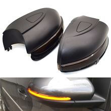 For Vw Golf Mk6 Gti 6 R Line Touran Dynamic Blinker Side Mirror Indicator For Volkswagen Vi R20 Led Turn Signal Light 2 x turn signal lights under side mirror puddle 6 led lights for vw gti golf mk6 6 mkvi 2010 2014