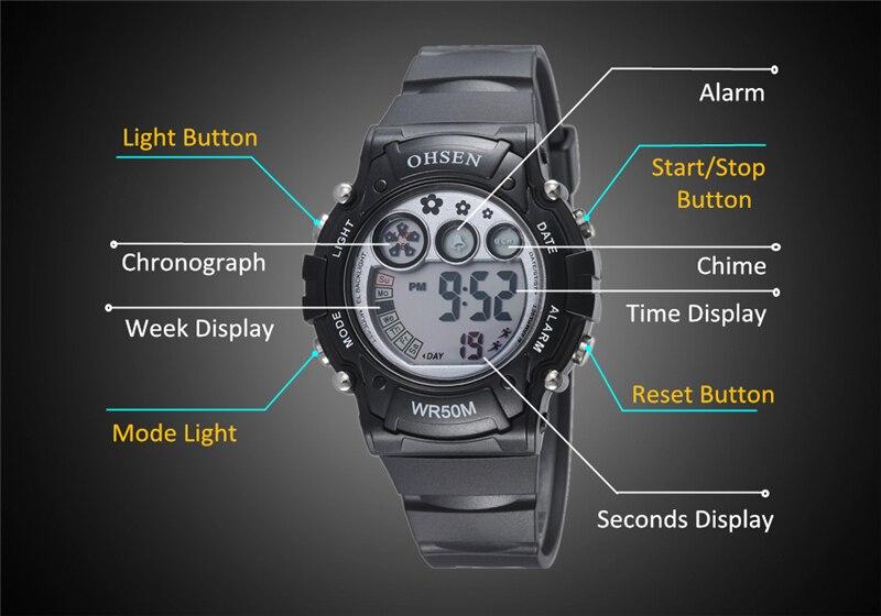 New 2019 OHSEN Digital Quartz Kids Boys Fashion Sports Wristwatch Rubber Band 50M Waterproof Sport Cartoon Cute Children Watches (38)