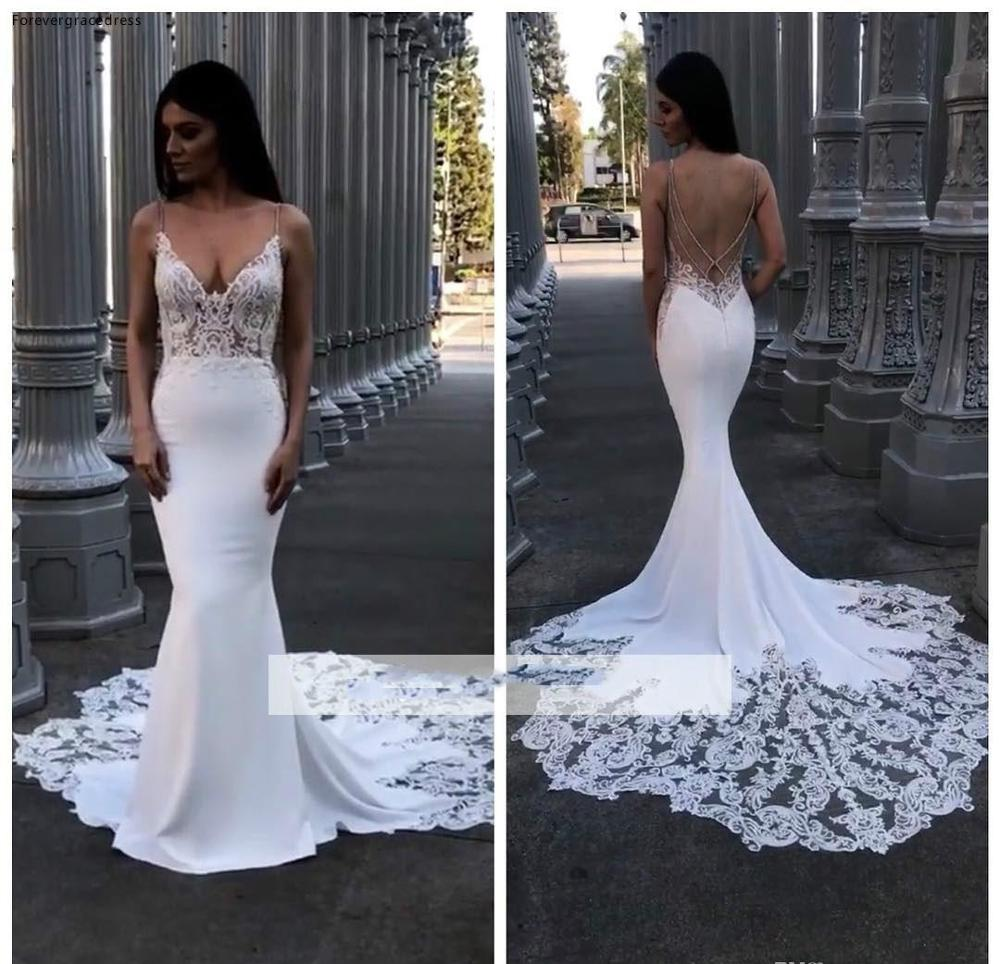 South African Black Girls Wedding Dresses 2019 Bohemian Mermaid Spaghetti Straps Garden Country Bride Bridal Gowns Plus Size