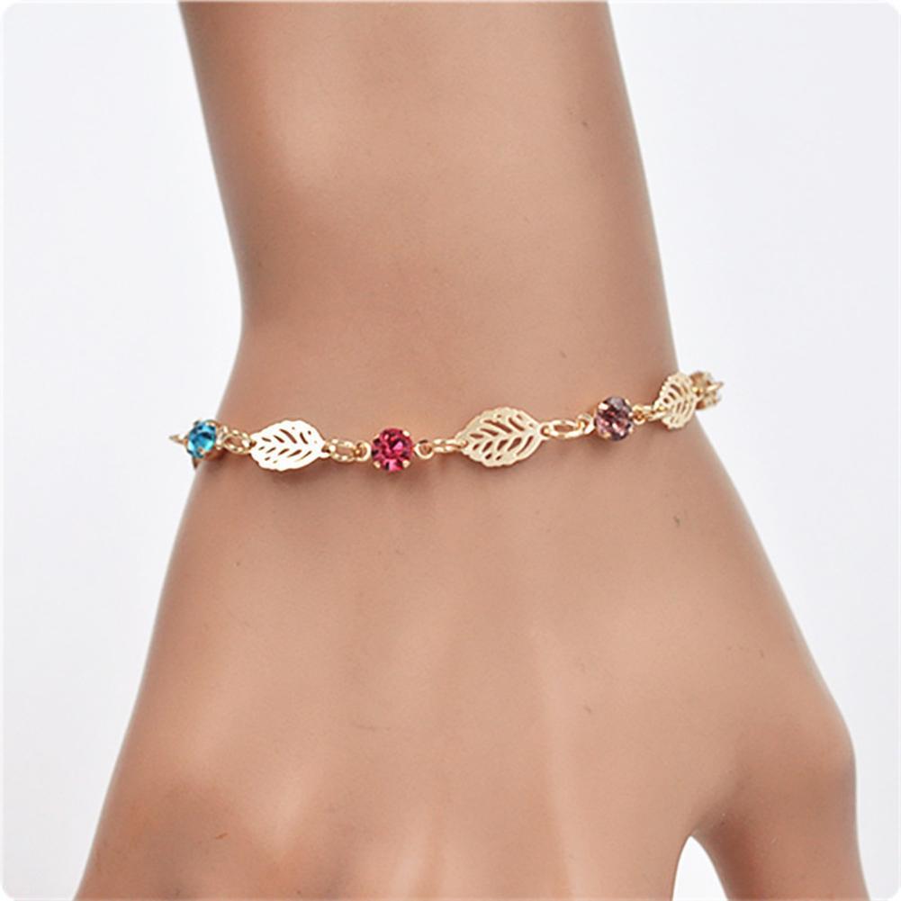 New Women Fashion Bracelet Hollow Leaf Plants Pattern  Jewelry Decor