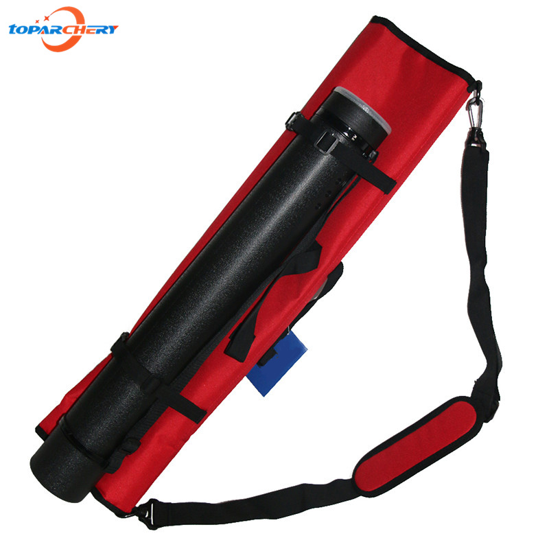 1 pc Canvas Take down Bow Bag 1 pc Plastic Adjustable Arrow Quiver Holder for Archery