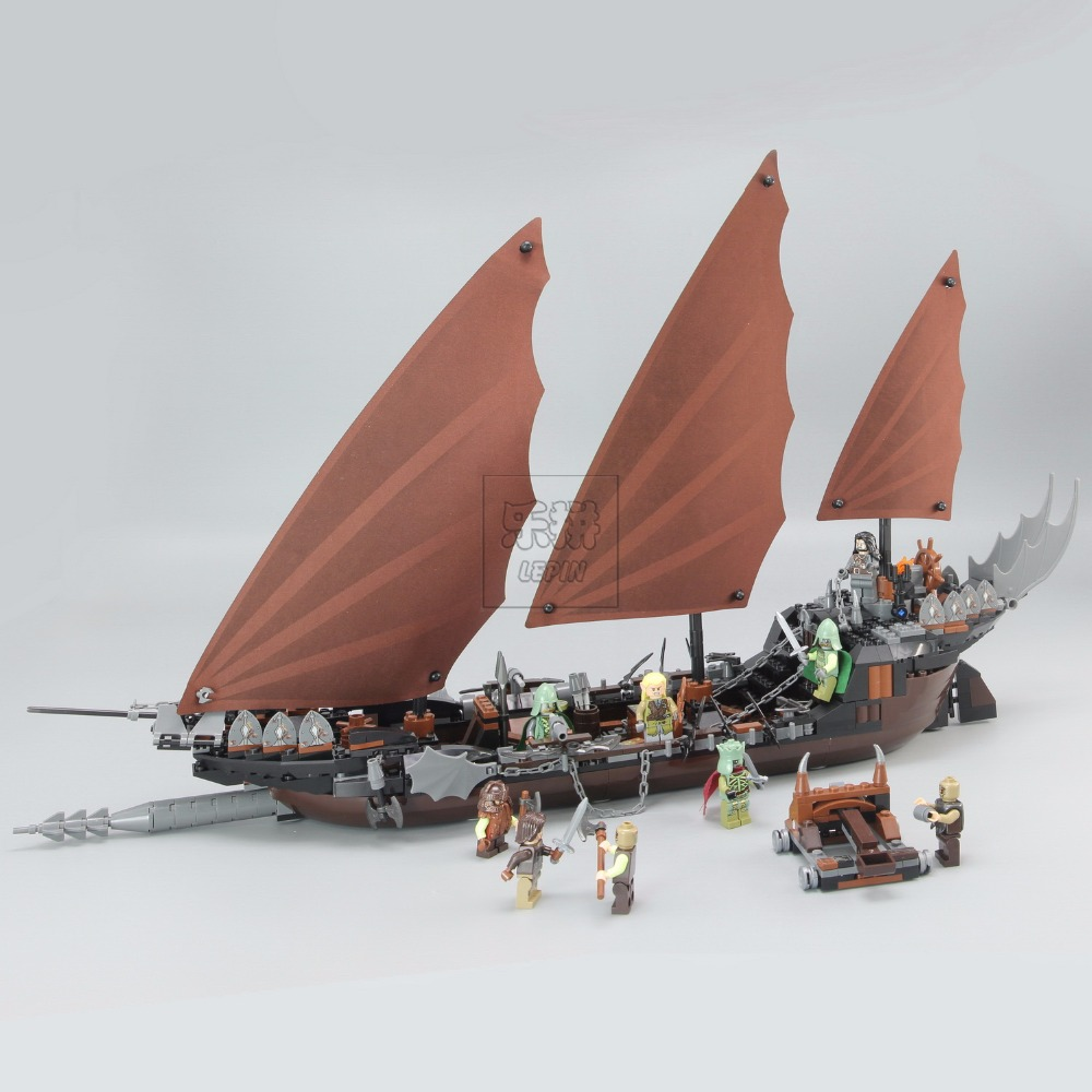 Lepin 16018 Genuine The lord of rings Series The Ghost Pirate Ship 756pcs Set Building Block Brick Toys Compatible lego 79008 590pcs enlighten pirate series toys pirate ship weapons assembling building block bricks set compatible with lepin friends