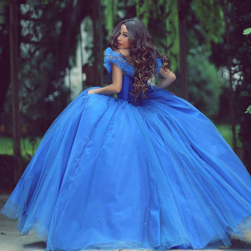 5b8b3a0a0 Cinderella Quinceanera Dresses Sweet 16 Princess Masquerade Ball Gowns Off  The Shoulder Bandage Crystal Royal Blue 2016-in Quinceanera Dresses from  Weddings ...