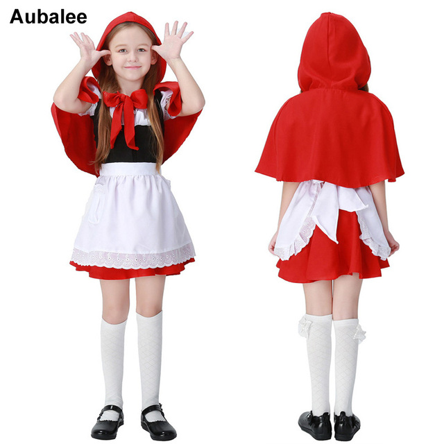 Aubalee Little Red Riding Hood Cosplay Costume Halloween Kids Girls Fancy Dress Fairy Tales Little Red  sc 1 st  AliExpress.com : fantasy costumes for kids  - Germanpascual.Com